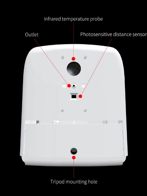Wall mounted hand temperature measurement K9 thermometer sensor liquid soap disp 4