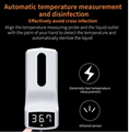 Wall mounted hand temperature measurement K9 thermometer sensor liquid soap disp