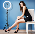 Taiworld 10 Inch Led Selfie Photography Dimmable Selfie Ring Light with 1.6M Tri