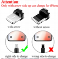 Mobile Phone Straight Magnet Data Cable 3 In 1 Magnetic Fast Charging Usb Data  6