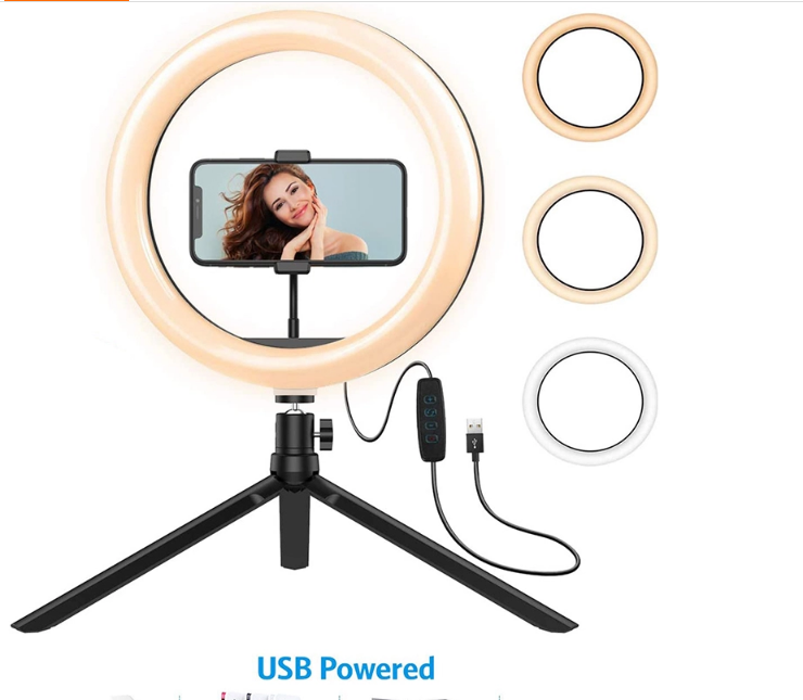 """10"""" Ring Light with Tripod Stand - Dimmable Selfie Ring Light LED Camera Ringlig"""
