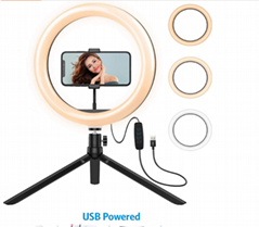 "10"" Ring Light with Tripod Stand - Dimmable Selfie Ring Light LED Camera Ringlig"