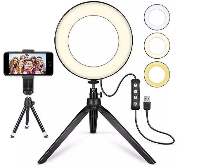 """10"""" Ring Light with Tripod Stand - Dimmable Selfie Ring Light LED Camera Ringlig 2"""