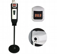 Soap dispenser can be mounted with temperature measuring instrument