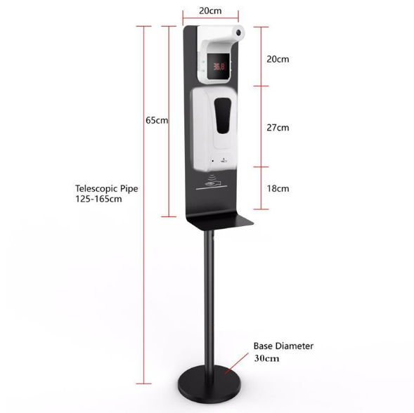 Soap dispenser can be mounted with temperature measuring instrument  2
