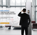Face recognition temperature scanner disinfection attendance machine for Office