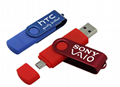 Swivel OTG USB flash drive USB stick  2.0 3.0 OTG flash drive usb for Android PC