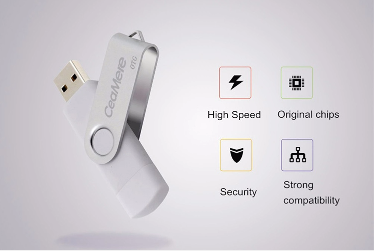 Swivel OTG USB flash drive USB stick  2.0 3.0 OTG flash drive usb for Android PC 7