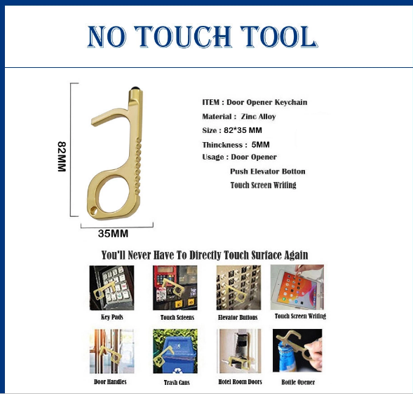 Customized And Fast Delivery Door Opener Elbow With Key Ring 2