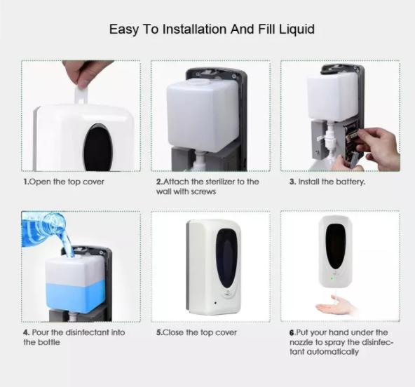 liquid foaming soap alcohol gel sprayer automatic hand sanitizer dispenser floor 6