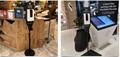 liquid foaming soap alcohol gel sprayer automatic hand sanitizer dispenser floor