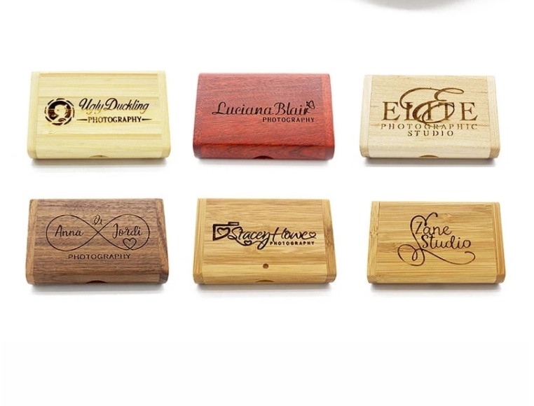 Any logo brand wood USB pen drive memory USB key 5
