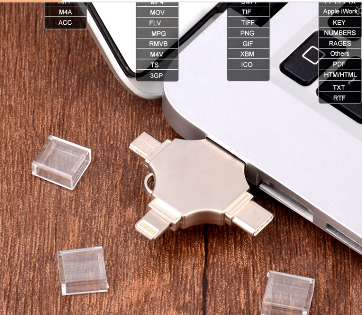 High Speed Usb Flash Drive 4 In 1 Type C Memory Stick 3.0