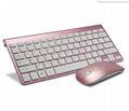 Wireless Chiclet Keyboard Mouse  Keyboard and Mouse Combo Mini Keyboard