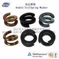 Fe6 Double coil Spring Washer 4