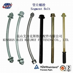 Tunnel Bolts high tensile 8.8 grade HDG coating