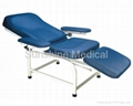 Manual stretchable blood donation chair