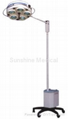 Vertical coldlight emergency operating shadowless lamp