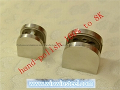 Stainless Handrail Fittings-Glass clamp