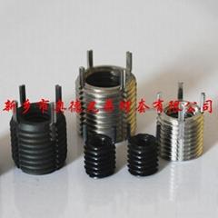 Free-running helicoil-threaded-insert