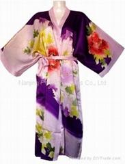 Pure Silk Hand-Painted Kimono, Pyjamas