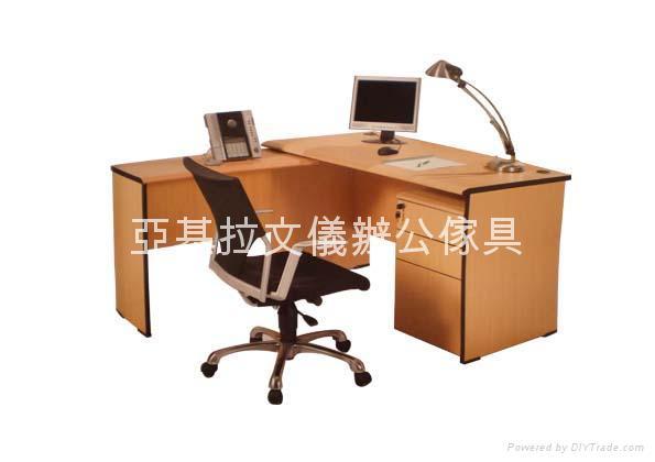 木紋色辦公主檯套裝 1