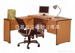 木紋色辦公主檯系列