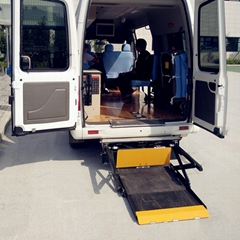 面包车尾门电动轮椅升降机 折叠式升降平台