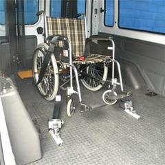 汽車內殘疾人輪椅鎖緊裝置安全固定系統