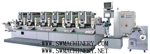 全自动套印间歇式(全轮转)高速不干胶商标印刷机 1