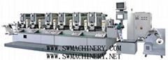 全自動套印間歇式(全輪轉)高速不干膠商標印刷機