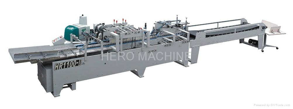 HR1100-II Semi-Automatic Type Paper Bag Bottom Gluing Machine 1