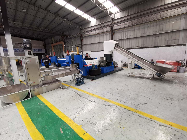 automatic single screw waste cost plastic recycling machine sj 120 3