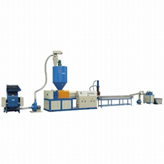 double stage extruder granulator plastic recycling machine for africa