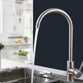 厨房304不锈钢拉丝水龙头房间可旋转菜盘弯头凉热两用水龙头