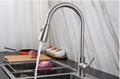 家用廚房間菜盤冷熱活動拉出式廚房水龍頭抽拉式防濺水龍頭 5