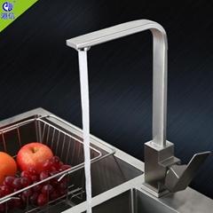 廚房可旋轉洗碗槽冷熱水龍頭水池龍頭