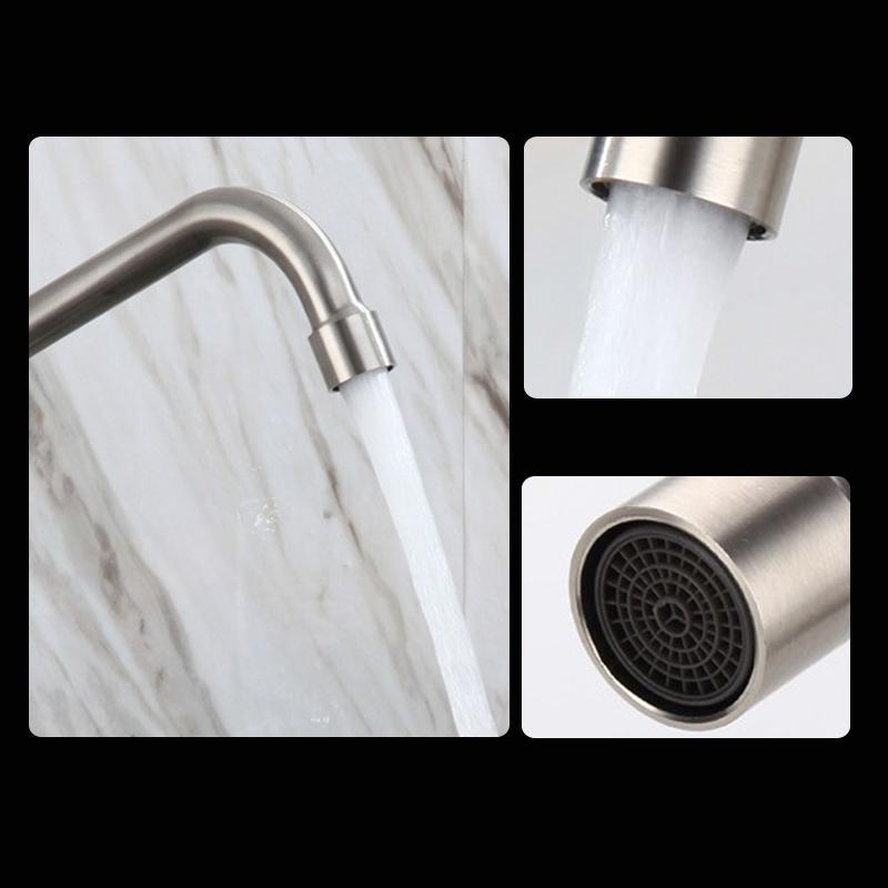 不鏽鋼入牆式單冷出水龍頭可左右轉動 4