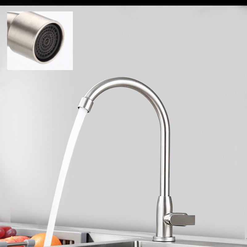 不鏽鋼單冷出水龍頭可旋轉柔出水 3