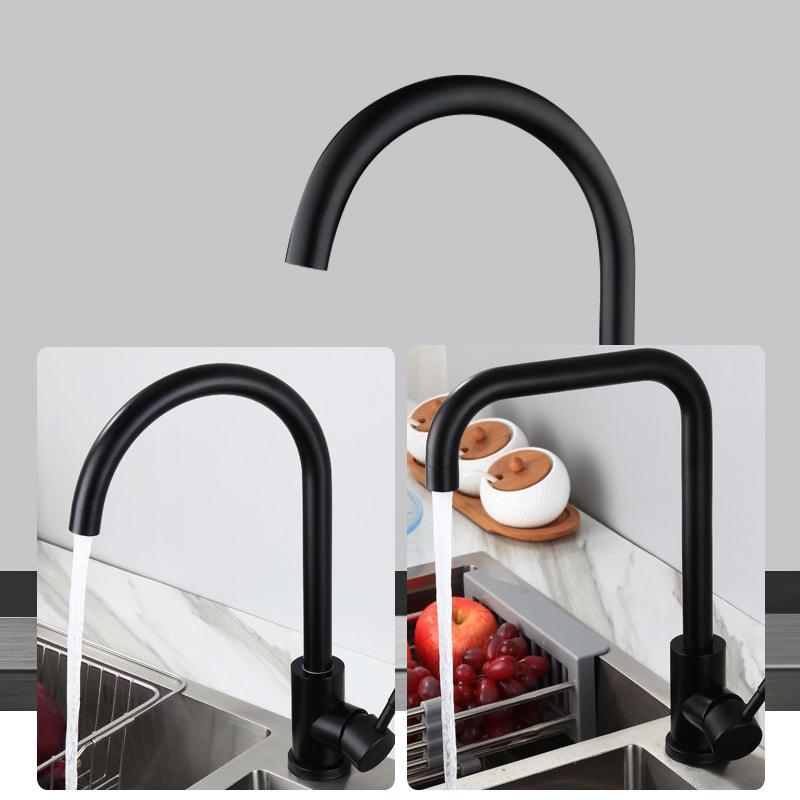 不鏽鋼黑色廚房出水龍頭 3