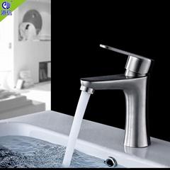 不鏽鋼浴室衛生間冷熱面盆臉盆水龍頭