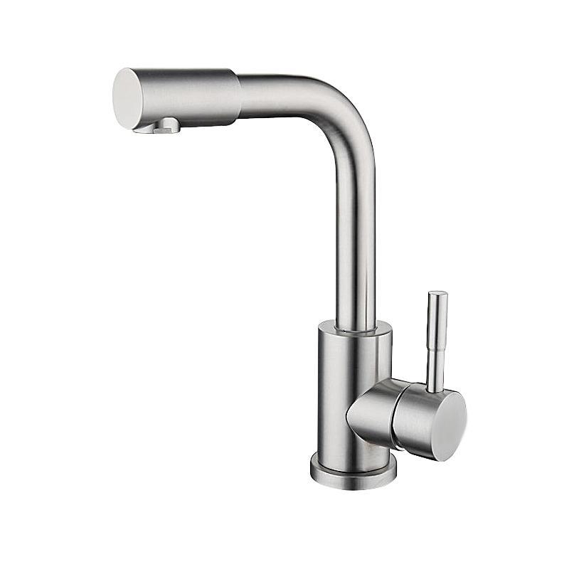 不鏽鋼浴室冷熱龍頭可旋轉水龍頭 5