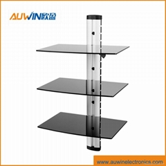 Audio video glass shelf  bracket DVD mount