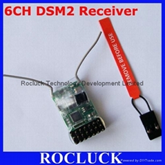 AR6100 6CH 2.4G RC Receiver Support DSX7
