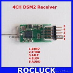 4100E 4CH 2.4G RC Receiver Support DX6I,DX7,DX8,DSX7,DSX9 DSX1