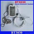 BT3030 bluetooth headset Wireless Stereo Bluetooth earphone BT-3030  5