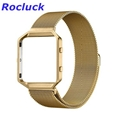 for Fitbit Blaze Milanese Loop Strap + Metal Frame  Stainless Steel Watch Band