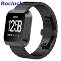 For Fitbit Versa Bands Solid Stainless Steel Band Strap Metal Wristbands