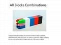 Giant building blocks toy for kids DIY furniture,room wall, CE certificated 7