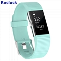 For Fitbit Charge 2 replacement silicone wristband
